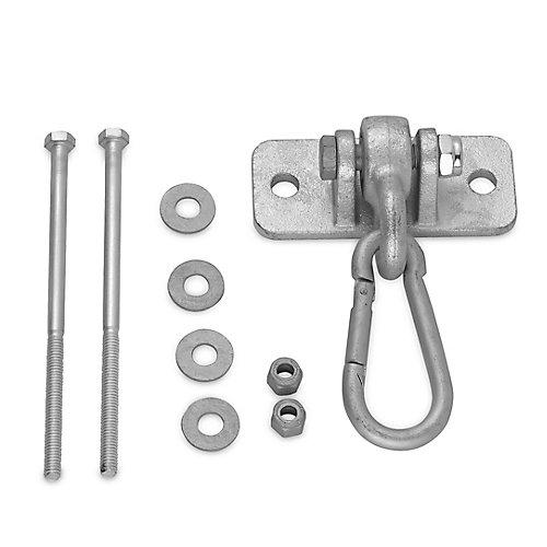 Heavy Duty Swing Hanger With 4 inch Snap Hook - Mounting Hardware Included
