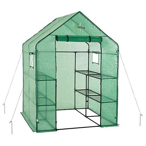 Deluxe WALK-IN 2 Tier 8 Shelf Portable Garden Greenhouse