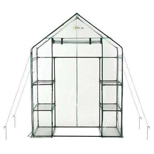 WALK-IN 3 Tier 6 Shelf Portable Greenhouse