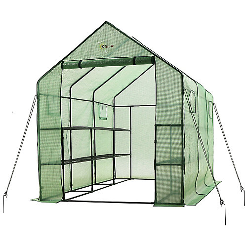 Très spacieux et robuste Walk-in 2 tier 12 étagère portable jardin serre chaude avec des