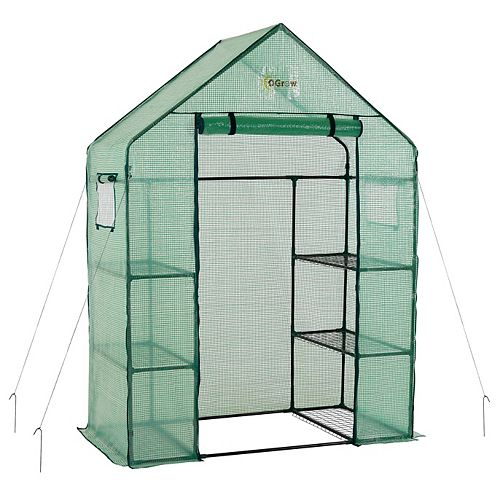 Ogrow Deluxe WALK-IN 3 Tier 6 Shelf Greenhouse