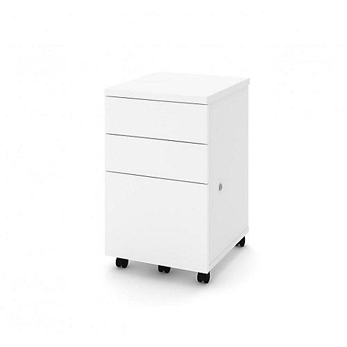 Caisson Mobile Assemblé 3 tiroirs - Blanc