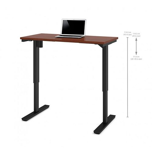 24 inch x 48 inch Electric Height adjustable table in Bordeaux
