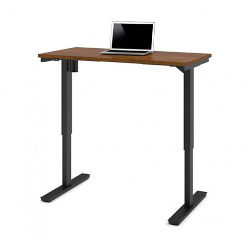 24 inch x 48 inch Electric Height adjustable table in Tuscany Brown