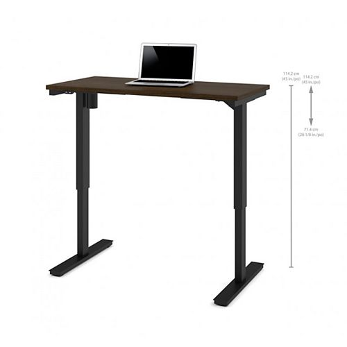 24 inch x 48 inch Electric Height adjustable table in Tuxedo
