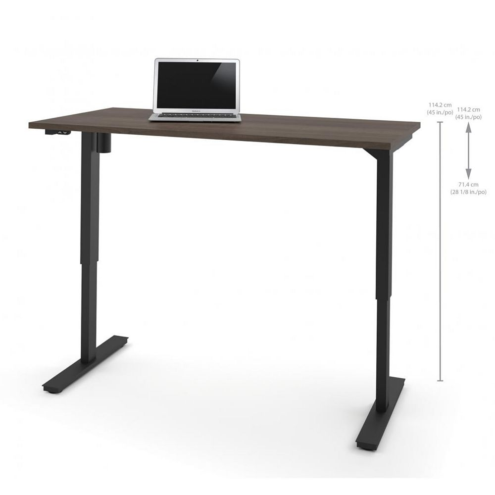 Bestar 30 inch x 60 inch Electric Height adjustable table in Antigua