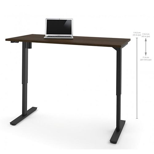 30 inch x 60 inch Electric Height adjustable table in Tuxedo