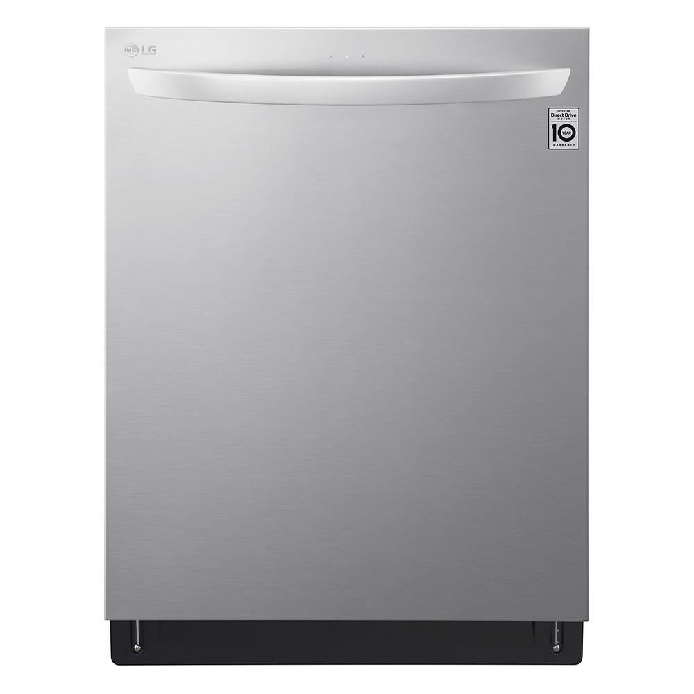 LG Electronics Top Control Smart Dishwasher with 3rd Rack and Wi-Fi in Smudge Resistant Stainless Steel with Stainless Steel Tub, 46 dBA - ENERGY STAR®
