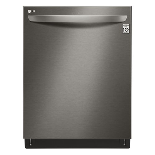 LG Electronics Top Control Smart Dishwasher with 3rd Rack and Wi-Fi in Smudge Resistant Black Stainless Steel with Stainless Steel Tub, 46 dBA - ENERGY STAR®