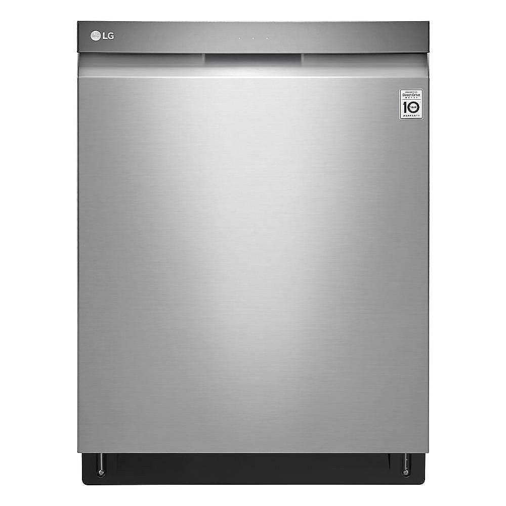 LG Electronics Lave-vaisselle Top Control avec 3ème panier en acier inoxydable résistant aux salissures avec cuve en acier inoxydable, 44 dBA - ENERGY STAR