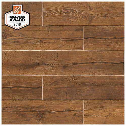 Revere Wood 8-inch x 40-inch Glazed Porcelain Floor and Wall Tile (2.15 sq. ft. / piece)