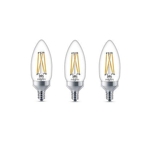 LED 60W Chandelier CanBase Soft White Glass 3PK CRI90