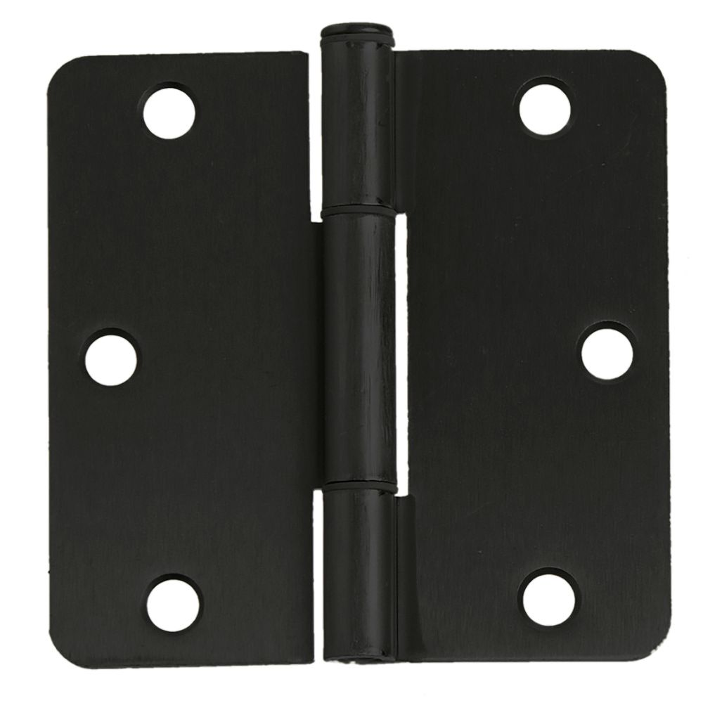 Everbilt 3-pouces avec 1/4-Radius charnière de porte, Noir, 12pk