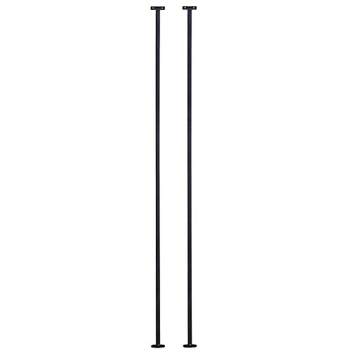 Forge Wrought Iron Matte Black Horizontail Stair Baluster 2 Pack 1/2 inch x 38 inch