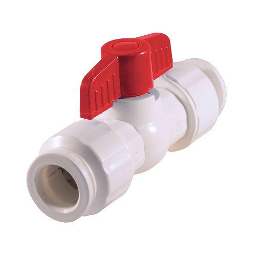 Aqua-Dynamic Valve à bille 1/2 pouce Schedule 40 PVC pousser-raccorder