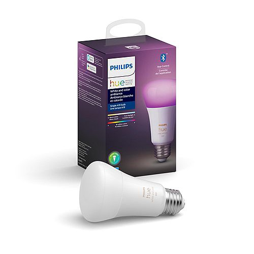 Hue White and Colour Ambiance A19 ampoule intelligente DEL