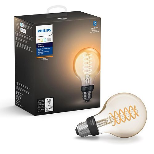 White Single Filament Bulb G25 E26 Light Bulb
