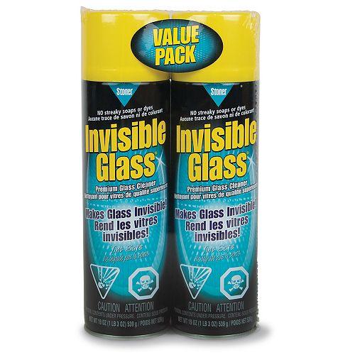 539g Aerosol Glass Cleaner (2-Pack)