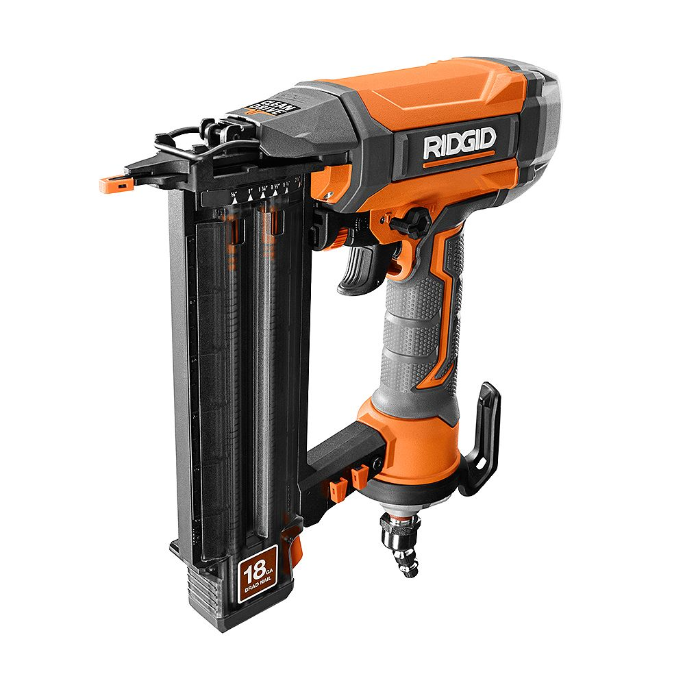 RIDGID 18-Gauge 2-1/8 -Inch Brad Nailer with CLEAN DRIVE Technology