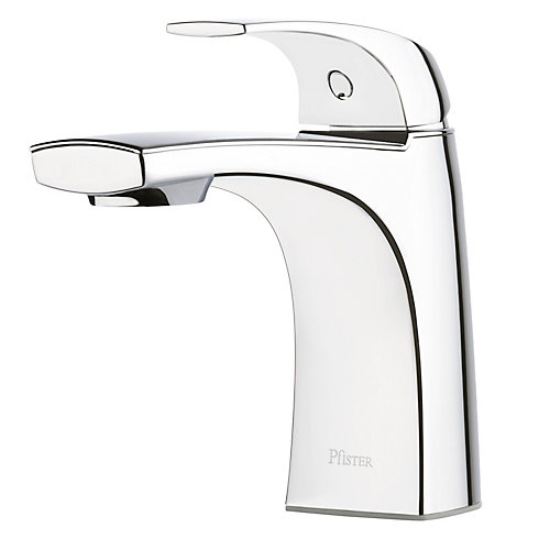 Karci Single Hole Single-Handle Bathroom Faucet with Pop-Up Drain in Polished Chrome