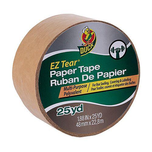EZ Tear Paper Tape - Tan, 1.88 inch x 25 yd.