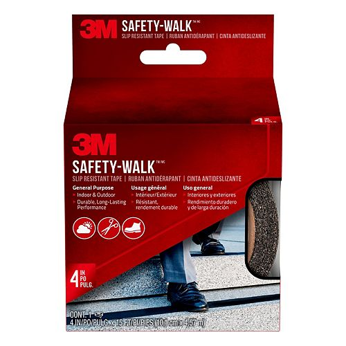 Ruban antidérapant 610B-R4X180 Safety-Walk(MC) 3M(MC), noir, 4 po x 15 pi