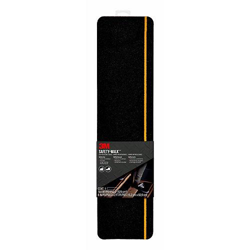 Slip Resistant Reflective Tread 600BY-T6X24, Black, 6 inch x 2 ft. (15.24cm x 60.9cm) 1Pk