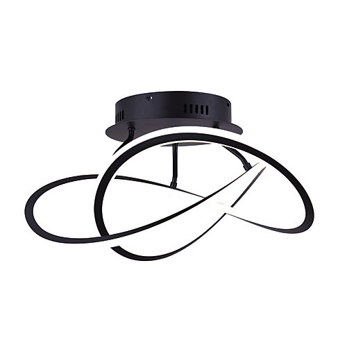 Zola LED Matte Black Semi-Flush Mount