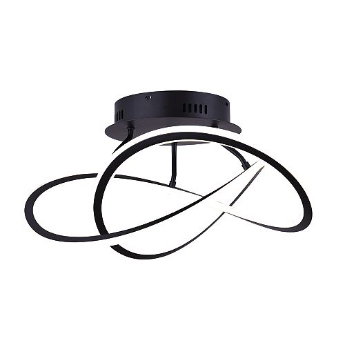 Zola LED Matte Black Semi-Flush Mount