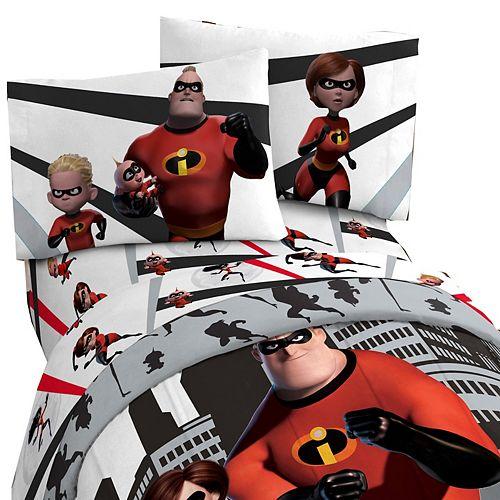 Disney Incredibles 2 Enseble de Draps pour Lit 1 Place