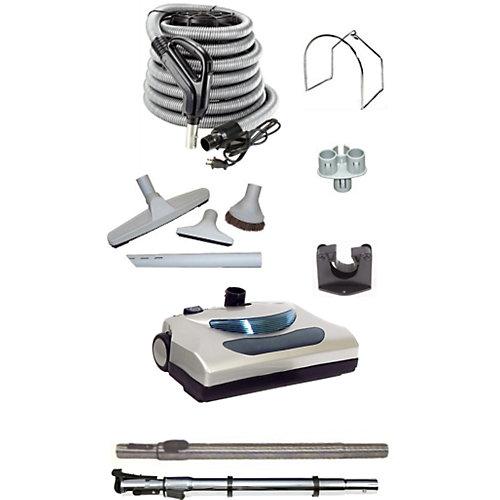 Aspirateur central électrique standard, tuyau de 30pi, trousse d'accessoires