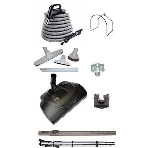 Aspirateur central électrique haut de gamme, tuyau de 30pi, trousse d'accessoires