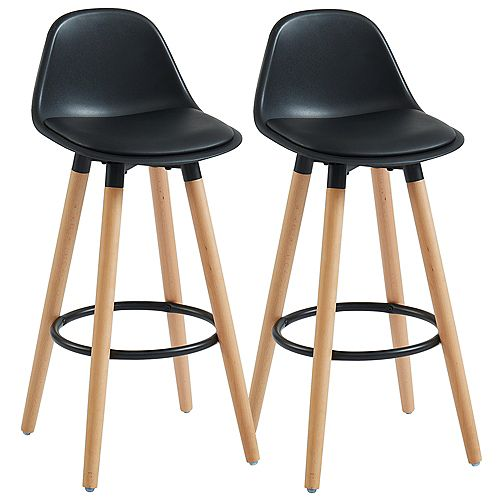 Diablo-26 in Counter Stool-Black - Set Of 2