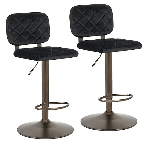 !nspire Aiko-Air Lift Stool-Black - Set Of 2