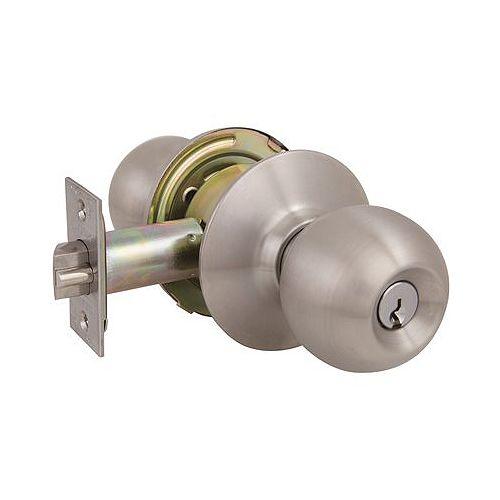 2010 GR2 Storeroom Ball Knob Us32d, Sc1, 2-3/4 inch Backset