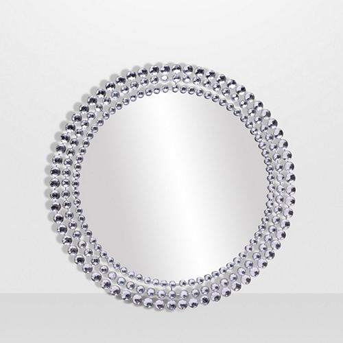 Jeweled Round Mirror