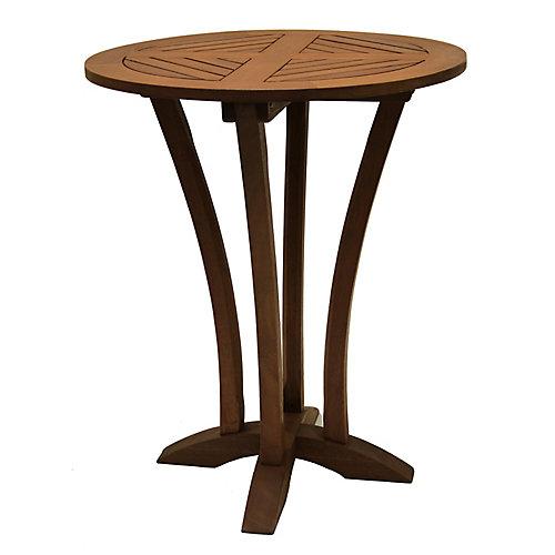30 inch Round Eucalyptus Bar Table