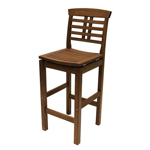 Eucalyptus Bar Chair with Backrest