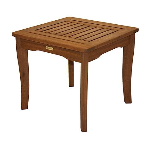 Table d'appoint d'eucalyptus