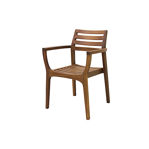 Danish Eucalyptus Stacking Arm Chair, 4 pack