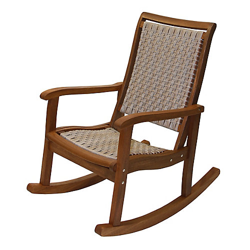 Ash Wicker & Eucalyptus Rocking Chair