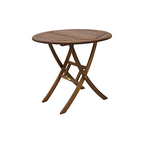 30 inch Dia. Eucalyptus Bistro Table