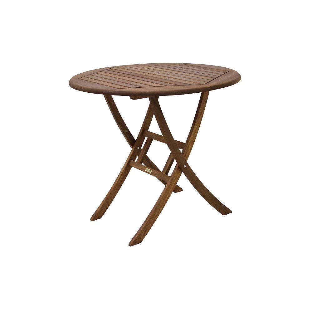 Outdoor Interiors 30 inch Dia. Eucalyptus Bistro Table