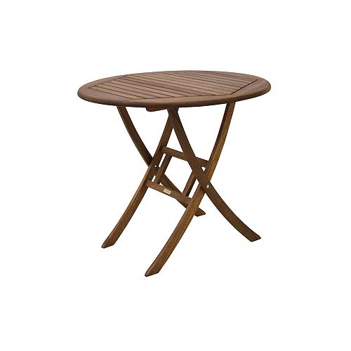 Table bistro d'eucalyptus. diam. 30 po