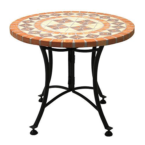 Table d'appoint en terre cuite, diam. 24 po