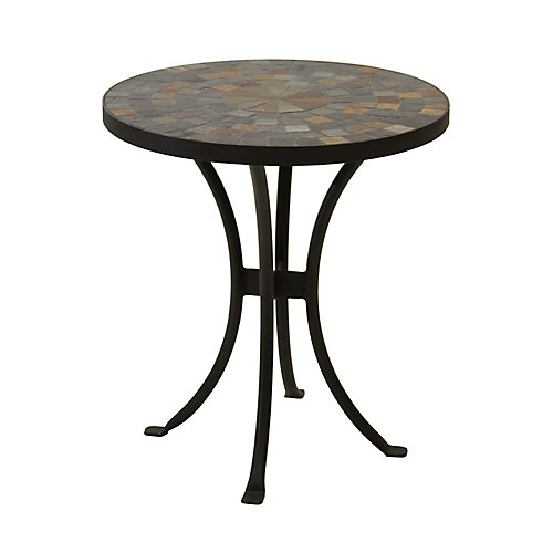 18 inch Dia. Rustic Slate Mosaic Accent Table