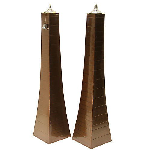 Copper Finish Pyramid Torch, 2 pack