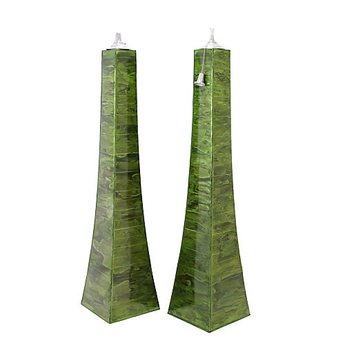 Green Finish Pyramid Torch, 2 pack
