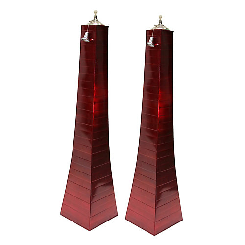 Red Finish Pyramid Torch, 2 pack