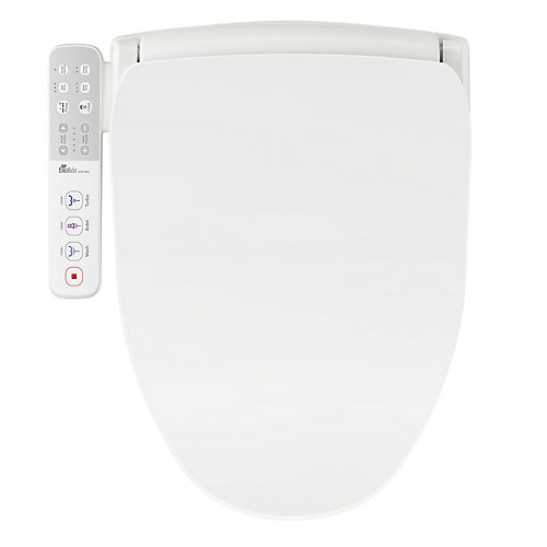 Siège de bidet électrique mince pour toilette ronde en blanc